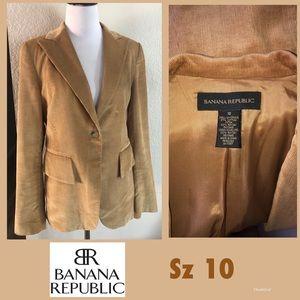 BANANA REPUBLIC brushed cord Blazer sz 10